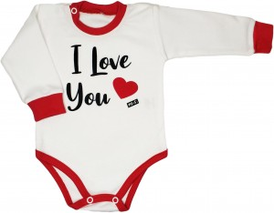 "Bawełniane body  ""I love You"""